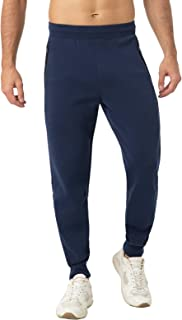 LAPASA Men's Polycotton Athleisure Joggers Sporty Loungewear Sweatpants with Pockets M22, M106