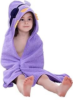 MICHLEY Animal Hooded Baby Towel Washcloth, Toddler Premium Cotton Absorbent Bathrobe for Girls Boys 0-6T (Bird)