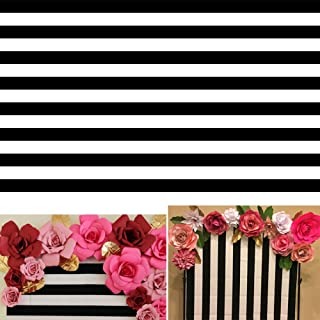 AOFOTO 10x6ft Black and White Striped Photography Backdrop Streak Textured Background Birthday Party Decoration Photo Studio Props Baby Shower Banner Adult Elder Girl Boy Wallpaper