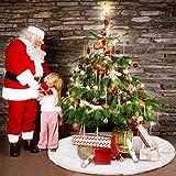 90cm Weihnachtsbaumdecke Weihnachtsdeko Weihnachtsbaum Rock Weiß Plüsch Weihnachtsbaum Decke Weihnachtsbaum Deko - 7