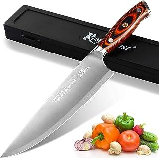 Couteau de chef professionnel dans un étui de rangement, couteau à hacher en acier à haute teneur en carbone avec manche e...