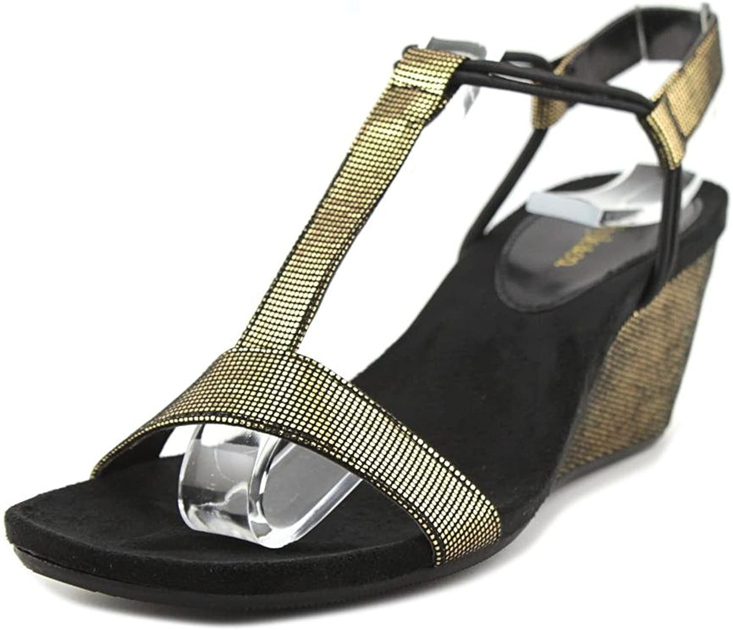 Style & Co. Womens Mulan Open Toe Casual Platform Sandals, Black, Size 10.0