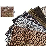 Trooer 7 Sheets 12 x 10 Inch Leopard HTV Heat Transfer Vinyl Wild Animal Print Iron on Vinyl Bundle Craft Cheetah HTV for DIY Clothing T-Shirt Hats Decoration
