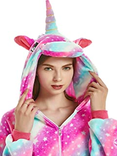 Adult Onesie Unicorn for Women Men Pajamas Animal Cosplay Christmas Halloween Costume