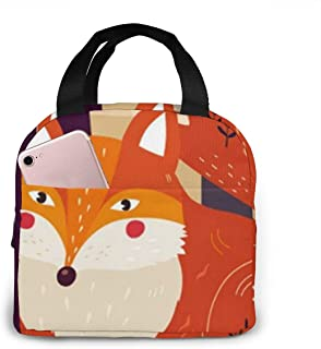 N\A Sac à Lunch Cute Forest Fox isolé Lunch Tote Sac Isotherme réutilisable Boîte à Lunch