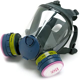 Moldex 9000 Series Reuasble Full Face Respirator/Mask with 7640 Multi-Gas/Vapor Smart Cartridge/P100 (1 Each) (Medium)