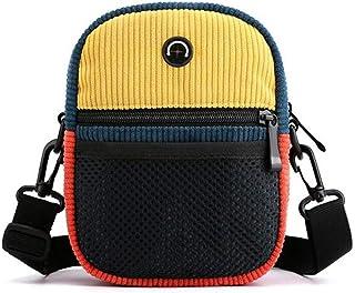 Fanspack Women Shoulder Bag Casual Fashion Mix Color Crossbody Purse Single Shoulder Bag