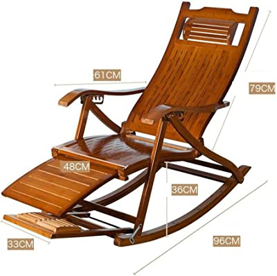 Brilliant Amazon Com Chairs Solid Wood Rocking Bamboo Senior Man Nap Alphanode Cool Chair Designs And Ideas Alphanodeonline