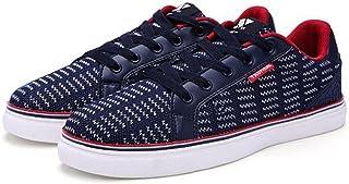 [QIFENGDIANZI] 紳士靴 メンズ デッキシューズ カジュアルシューズ スニーカー 四季 コンフォート ローカット 履き心地よい レースアップ シンプル スリッポン フラット オシャレ 通気性良い 耐久性 3色