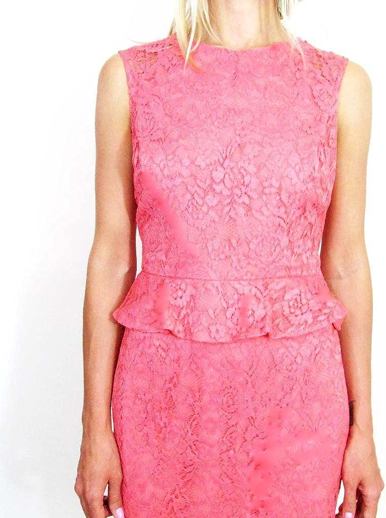 Cynthia Steffe Women's Lace Coral Cocktail Dress, 10