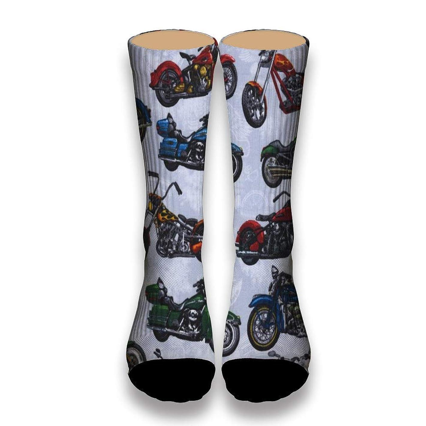 Mamie Jane I Love Motorcycle Doodle Novelty Socks Tube Short Mens Socks Pattern Socks