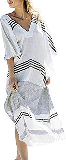 Chunoy Women Loose Casual Beach Cover Up Long Kaftans Bathing Suit Maxi Dresses