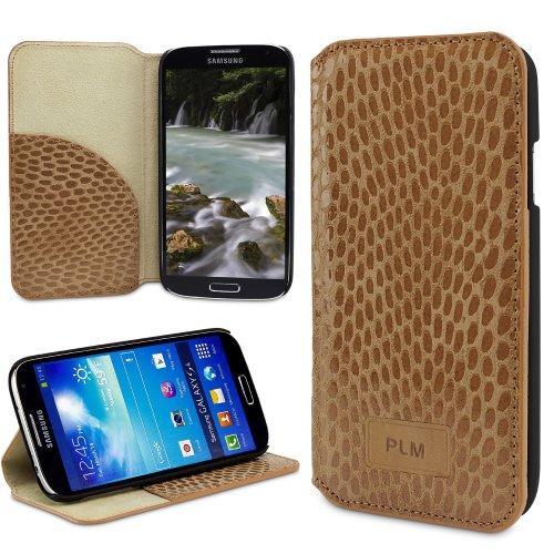 PLM toros pyhton Subbituminoso Samsung Galaxy S4 IV Funda Tipo Carcasa Funda - con Soporte y Tarjetero