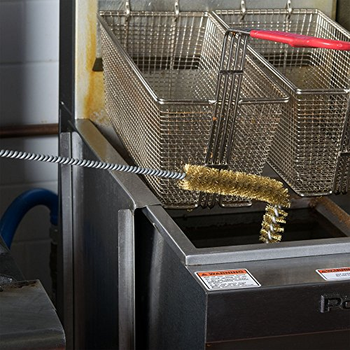27' L-Shaped Fryer Brush with Brass Bristles by TableTop King