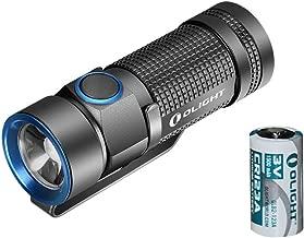 OLIGHT Bundle Best EDC Flashlight S1 500 Lumens Cree XM-L2 CW LED Flashlight and 1pc 1500mah CR123A Battery,Black