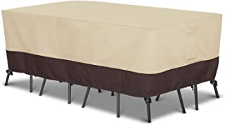 Arcedo Patio Furniture Set Cover, Outdoor Waterproof Table and Chair Cover, Heavy Duty Large Rectangular Dining Table Cove...