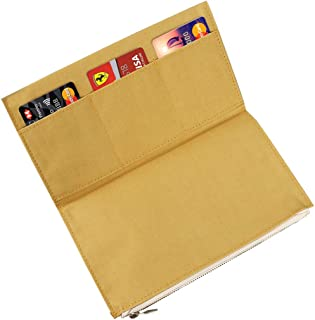 Moterm Canvas Zipper Pocket for Travelers Notebook, 1 Insert Pouch Refill for TN Accessories Standard Regular Size Paper Card Holder Storage Bag