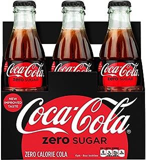 Coca-cola Zero Sugar 8oz Glass Bottles 4-6 Packs (24 Bottles) Coke