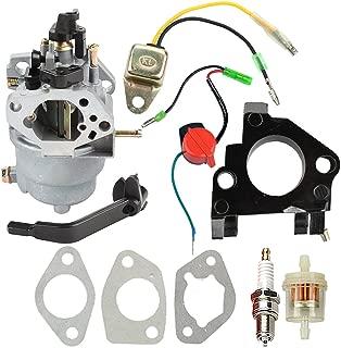 Buckbock Carburetor with Insulator Oil Sensor for Generac GP5000 GP5500 GP6500 GP6500E GP7500E 389cc 8125W 0J58620157 Jingke Huayi Kinzo Ruixing 13HP 14HP 15HP 16HP 188F 190F Portable Generator