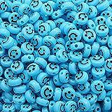 MMYAN 500 cuentas con agujeros lindas cuentas de plástico hermosas pulseras collares haciendo cuentas kit de cuentas para joyería, arte y manualidades, material de bricolaje (trece)