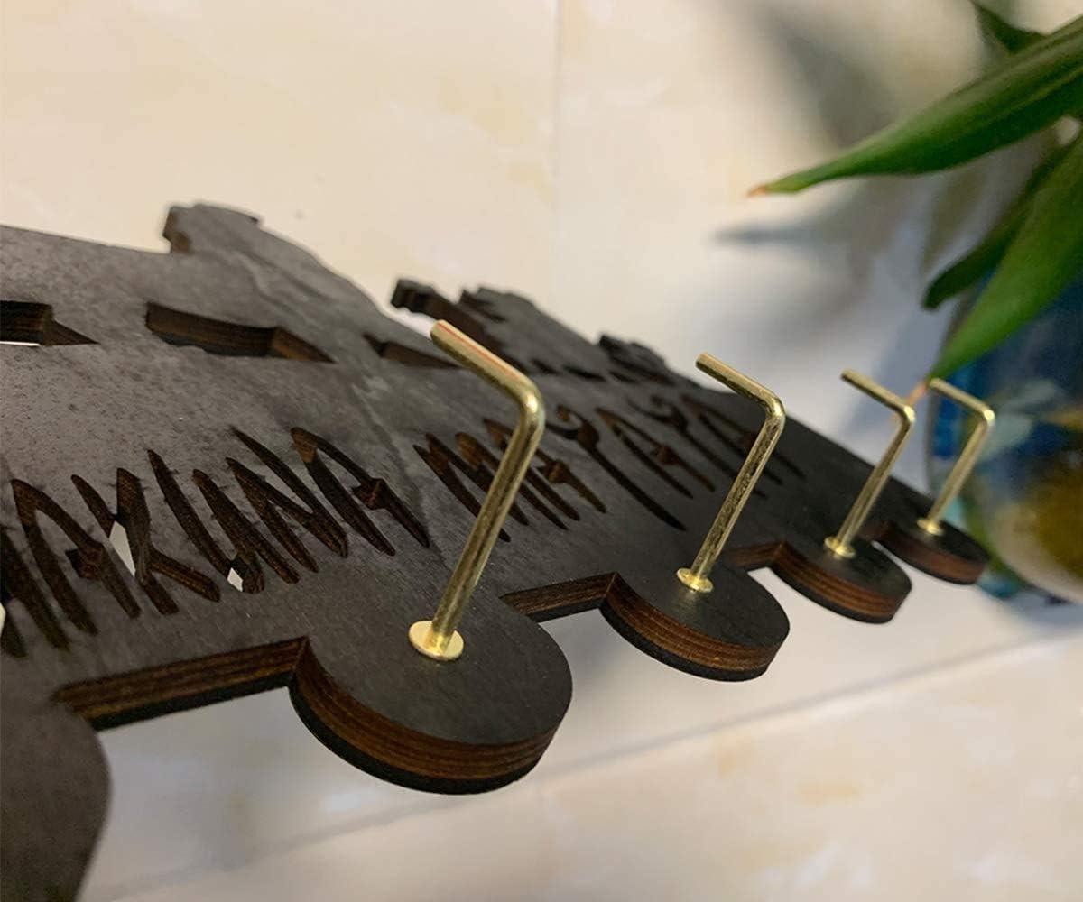 soporte para llaves m/áximo Ganchos de pared de The Lion King para llaves resistentes de 20 libras decoraci/ón de pared colgador para pared entrada y cocina. ganchos de madera