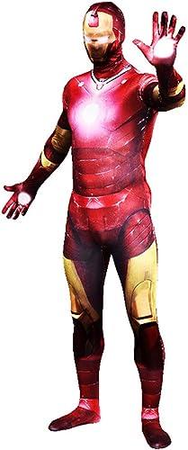 minorista de fitness QQWE Traje de Cosplay de de de Iron Man Marvel Super Hero Zentai Disfraz Disfraz Los Vengadores Juego de Roles Mono Navidad Ropa de Halloween,A-S  primera vez respuesta