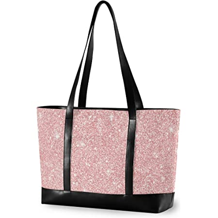 Large Two Tone Sparkle Vinyl Sparkle Tote Bag by Stitches for Bitches