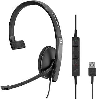 Sennheiser SC 130 USB (508314) - Auriculares monoaurales para profesionales de negocios | con sonido estéreo HD, micrófono...