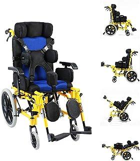 A&DW Parálisis Cerebral Adulto/Silla de Ruedas para niños Coche Multifuncional para discapacitados Totalmente Tumbado