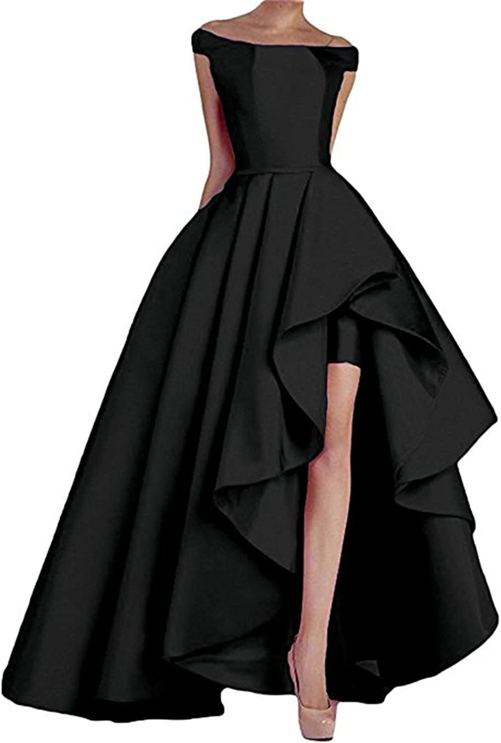 Alilith.Z Sexy Off The Shoulder A Line High Low Prom Dresses Long Evening Party Formal Gowns for Women