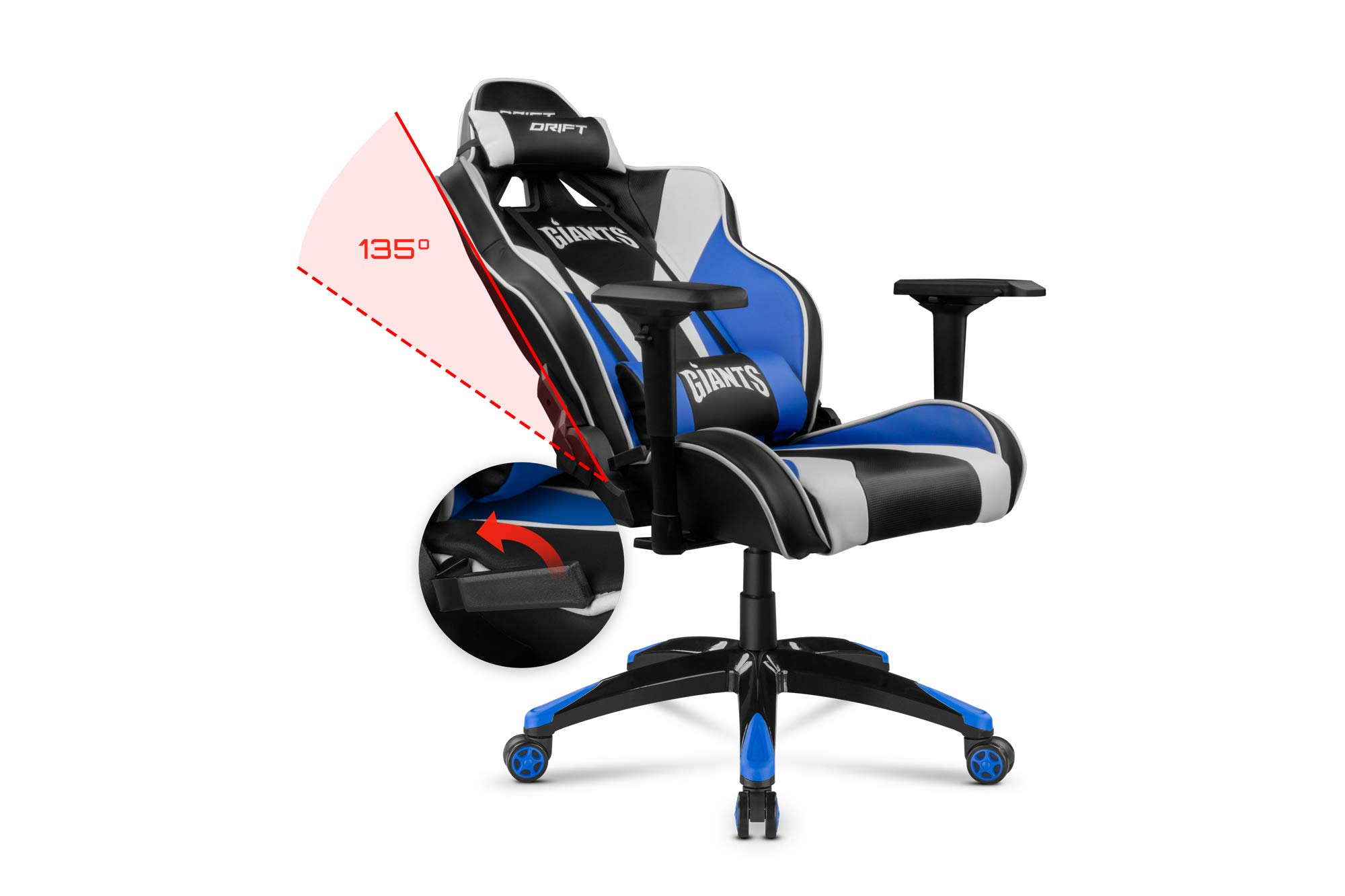 Drift Giants - DRGIANTS - Silla Gaming, Color Negro, Azul y Blanco ...