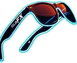 Light Up EL Wire Glasses - Blue - LED Rave Party Sound Activated (Blue)