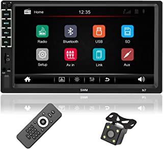 $65 » Alondy 7 Inches Double Din Car Stereo Audio Receiver MP5 Player / Touch Screen, FM Radio, Bluetooth, Mirror Link, USB, TF,...