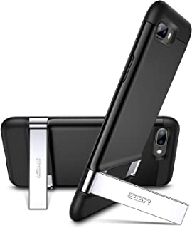 ESR iPhone 8 Plus Case, iPhone 7 Plus Case, Metal Kickstand Case [Vertical and Horizontal Stand] [Reinforced Drop Protection] Hard PC Back with Flexible TPU Bumper for iPhone 5.5 inches(Black)