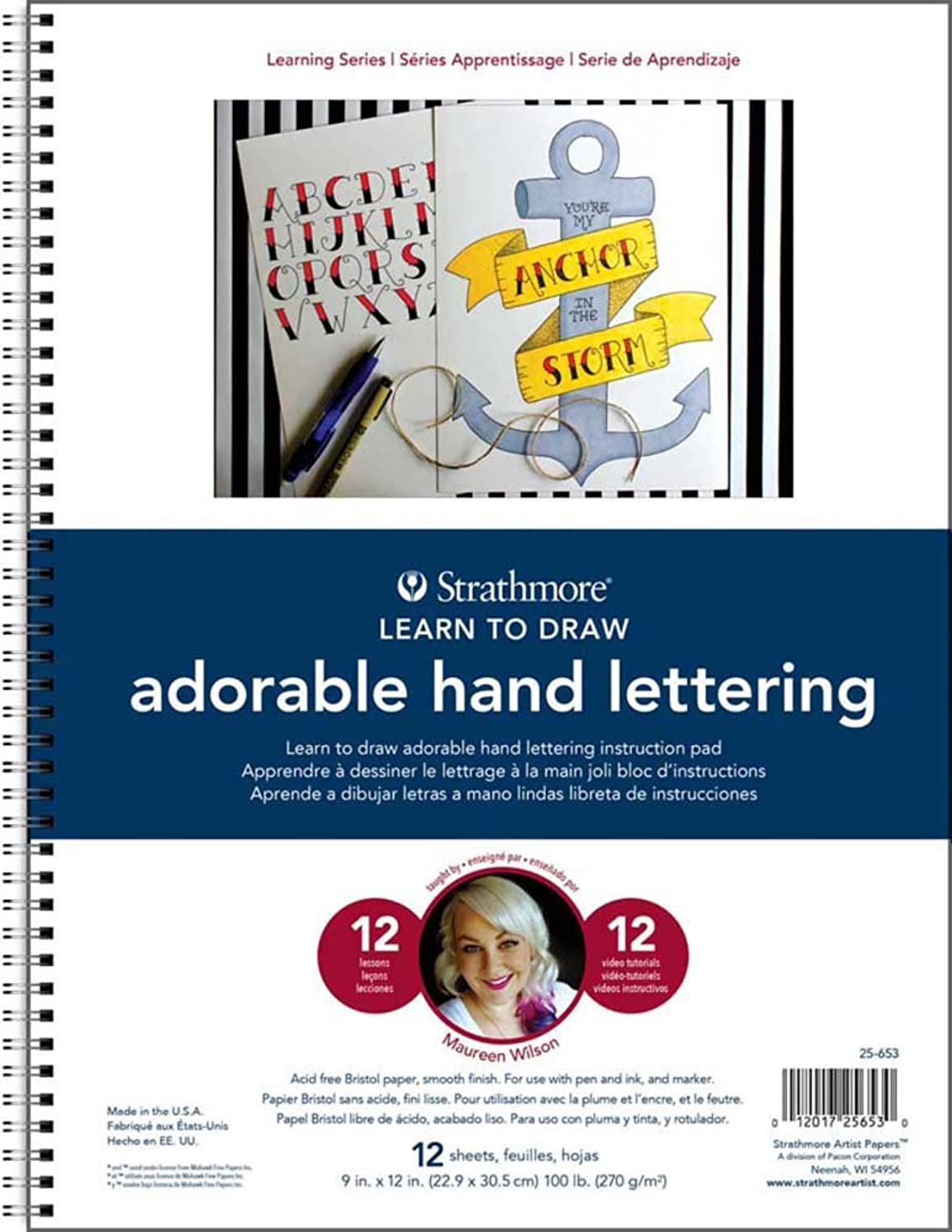 Strathmore ((25-653-1 200 Learning Series Adorable Hand Lettering Pad, 28 Sheets