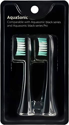 high quality AquaSonic Black Series online sale Replacement Brush Heads 2-Pack - Electric Toothbrush Replacement discount Brush Heads outlet sale