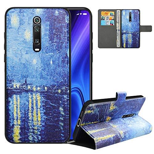 LFDZ Handyhülle für Mi 9T Hülle,Premium 2in1 Abnehmbare PU Ledertasche für Mi 9T Pro Hülle,RFID-Blocker Flip Hülle Tasche Etui Schutzhülle für Redmi K20/Redmi K20 Pro/Pocophone F2/F2 Pro,Starry Night