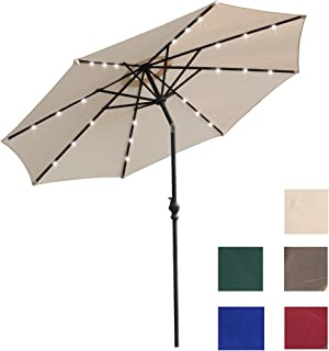 Kosycosy AOODA 13 ft Market Patio Umbrella Double-Sided Steel Table Outdoor Umbrella with Crank, Perfect for Outdoors, Patio, or Any Parties (Beige4) …