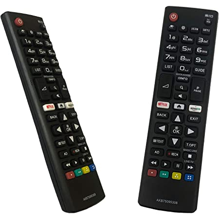 iLovely Nuevo Mando LG AKB75095308 Universal Mando a Distancia para LG LCD LED Smart TV con Netflix Amazon Botones 28MT49S 43UJ630V 43UJ634V 43UJ635V ...