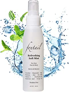 Foxtail Refreshing Soft Mist - Daily Moisture Mist for Face & Body, Botanical Fusion of Cucumber, Rosemary, Sage, Orange Oil, Hyaluronic Acid, Aloe, and Vitamin C, 4 Fl Oz, 118 mL