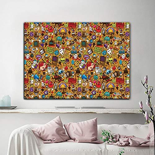 Pop Art Andy Warhol Leinwand Ölgemälde Wohnzimmer Wandbild Abstrakte Grafik rahmenlose Dekoration Poster und Drucke A114 50x70cm