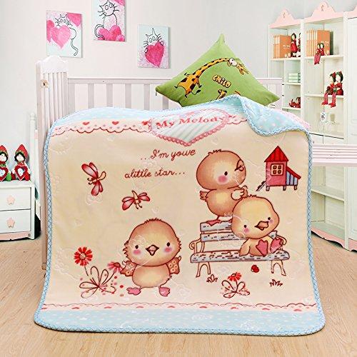 Hoge kwaliteit deken Cartoon kleine deken baby wolk deken kinderen deken deken deken kantoor enkele deken dikke deken, 105X120cm, 1328 ijs groen
