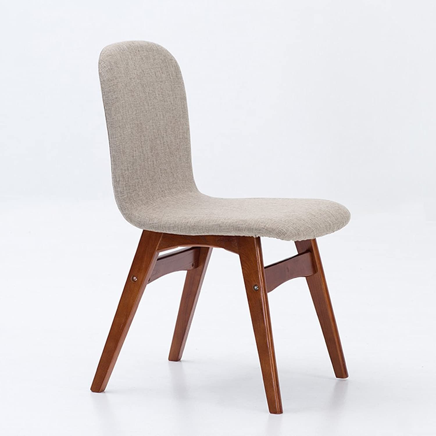 NNN- Nordic Residential Furniture Dining Chair Simple Modern Back Chair Coffee Lounge Chair Solid Wood Fabric Dining Table Chair, Red-Brown Stool Legs (color   E)