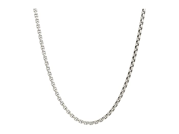 John Hardy  3.7mm Box Chain Necklace Size 24 (Silver) Necklace