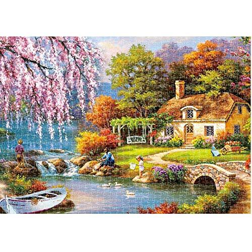 1000 Pieces Jigsaw Puzzel Voor Volwassenen, Puzzel Sets Voor Familie, Kartonnen Puzzels, Educatieve Spelletjes, Brain Challenge Puzzel Voor Kinderen Childrens,Pink