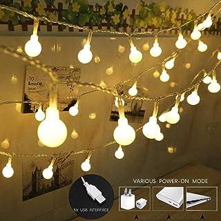 coersd String Lights USB Powered with 100 LED Globe String Lights Home Decorative Light Lantern
