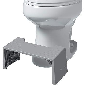 "Squatty Potty Porta Traveler Foldable Toilet Stool for Travel, 7"" Height, Gray"