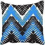 Personaliza divertidas fundas de almohada a rayas con motivos étnicos y tribales, líneas de zigzag, pinceladas y salpicaduras de pintura, funda de almohada para el hogar, interior, cama, jardín, coche, oficina, decoración de sofá