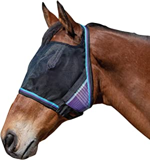 Kensington UViator Protective Fly Mask - Newest UV Solar Screen Protection with a 90% UV Rating - Double Locking CatchMask Fasteners - Non Heat Transferring Fabric