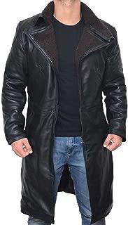 ThreadNeedle Blade Runner 2049 Ryan Gosling (Officer K) Fur Lapel Collar Trench Leather Coat